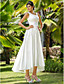 Lanting Bride® A-line / Princess Petite / Plus Sizes Wedding Dress - Chic & Modern / Glamorous & Dramatic / Reception Asymmetrical Scoop