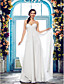 Lanting Bride® Sheath / Column Petite / Plus Sizes Wedding Dress - Classic & Timeless / Glamorous & Dramatic Floor-length Spaghetti Straps