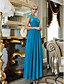 TS Couture® Formal Evening / Military Ball / Wedding Party Dress - Vintage Inspired Plus Size / Petite Sheath / Column Queen Anne Ankle-length Chiffon