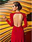 Formalna večer / Svečana priredba Haljina - Vintage motiv Kroj uz tijelo Ovalni izrez Do poda Žersej s