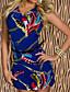 Женская сексуальная Печать Подвеска Led партия платье без рукавов      Женская сексуальная перо Отпечатано партия платье без рукавов
