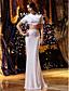 Lanting Bride® Trompet / zeemeermin Petite / Grote Maten Bruidsjurk Tweedelig Strijksleep Met sieraad Gebreid met