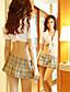 여성제품 울트라 섹시 / 유니폼 & 청삼 / 수트 잠옷여성의 폴리에스테르 멀티 색상