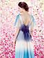 Kolacja oficjalna Sukienka - Odcień koloru Ołówkowa / Kolumnowa Łódeczka Sięgająca podłoża Szyfon aksamitowy z Broszka kryształowa