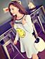Γυναικεία Φόρεμα Στρογγυλή Λαιμόκοψη Πάνω από το Γόνατο Μακρυμάνικο Βαμβάκι/Spandex