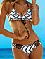 Ženski Bikini - Grudnjak na vezanje - Podstavljeni grudnjak / Bez žice - S cvjetnim printom / Boho - Poliester