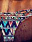 여성의 비키니 컬러 블럭 나일론 / 스판덱스 반두 조절 가능 / 패드 브라