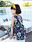 Djevojka je LjetoCvjetni print-Lan / Poliester-Ljeto-Više boja