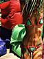 여성의 비키니 보호 면 / 폴리에스테르 홀터 넥 와이어가 없는 / 패드없는 브라