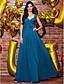 공식적인 저녁 couture® TS는 함께 라인 V 넥 발목 길이 조젯 드레스