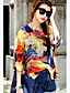 Bluza Žene,Boho Ležerno/za svaki dan Print-¾ rukava Okrugli izrez-Ljeto Narančasta Tanko Poliester