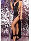 אישה קומביניזונים וכותנות Nightwear-סקסית פוליאסטר / ספנדקס שחור נשים
