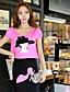 DABUWAWA® Dame Rund hals Kort Ærme T Shirt Orange-D14BTS070