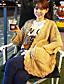Dame Simpel / Sødt Casual/hverdag / I-byen-tøj Normal Cardigan Ensfarvet,Brun V-hals Langærmet Akryl Forår / Vinter Medium