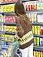 Dame Simpel / Sødt I-byen-tøj / Casual/hverdag Normal Cardigan Geometrisk,Flerfarvet Rund hals Langærmet Bomuld Forår / Vinter Medium