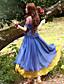 Dame Kineseri I-byen-tøj Løstsiddende Kjole Trykt mønster,Med stropper Midi Uden ærmer Blå Polyester Sommer Højtaljede Uelastisk Medium