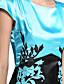 Damen Kleid-Lässig/Alltäglich / Übergröße Einfach Einfarbig Rundhalsausschnitt Übers Knie Kurzarm Rosa / Rot / Beige / GrünSeide /