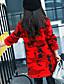 Menina de Vestido / Moletom com Capuz & Abrigo,Casual Estampado Algodão Inverno / Todas as Estações / Primavera / Outono Vermelho