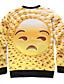 メンズ 活発的 シンプル ボヘミアン カジュアル/普段着 スポーツ スウェットシャツ プリント ラウンドネック マイクロ弾性 ポリエステル 長袖 秋 冬
