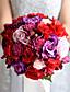 Bryllupsblomster Rund Roser Buketter Bryllup / Fest & Aften Polyester / Sateng / Taft / Spandex / Tørrede Blomster / Rhinestone7.87
