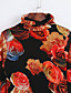 Nais- Pitkähihainen Keskipaksu Poolokaulus Puuvilla / Polyesteri Syksy Seksikäs Bile T-paita,Painettu Oranssi