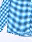 Potkošulja Ženski,Ulični šik Ležerno/za svaki dan Karirani uzorak-Dugih rukava Kragna košulje-Ljeto Plava Srednje Pamuk