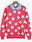 Dames Schattig Casual/Dagelijks Sweatshirt Print Overhemdkraag Fleece voering Micro-elastisch Katoen Lange mouw Winter