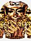 Herren Pullover Lässig/Alltäglich Sport Klub Aktiv Street Schick Punk & Gothic 3D-Druck überdimensional Rundhalsausschnitt Mikro-elastisch