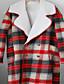 Damen Einfarbig Anspruchsvoll Lässig/Alltäglich Mantel,Herbst Winter Ständer Langarm Rot Mittel Polyester