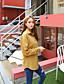 Damen Solide Einfach Lässig/Alltäglich Hemd,Hemdkragen Langarm Blau Rosa Rot Weiß Grün Gelb Kunstseide
