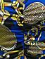 Dames Casual/Dagelijks Sexy / Vintage Bodycon Jurk Print-V-hals Mini Lange mouw Blauw / Groen Polyester Lente / Herfst Medium taille