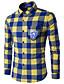 남성 컬러 블럭 스탠딩 카라 긴 소매 셔츠,심플 액티브 캐쥬얼/데일리 작동 폴리에스테르
