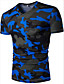 Herren Tarnfarben Aktiv Normal T-shirt,V-Ausschnitt Sommer Kurzarm Polyester Dünn