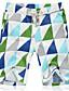 Herre Enkel Aktiv Uelastisk Shorts Bukser,Løstsittende Mellomhøyt liv Geometrisk