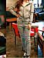 Damen Solide Einfach Lässig/Alltäglich Kapuzenshirt Hose Anzüge Frühling Herbst Lange Ärmel Mikro-elastisch