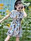 Mädchen Kleid Tiermuster Druck