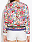 FemmeFleur Multi-couleur Manches Longues Polyester Printemps Moyen Non Elastique