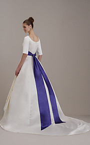 mariage-parole longueur / mariée ceinture ruban (fsd0243)
