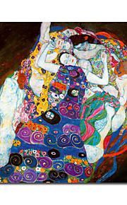 strukket håndlaget Gustav Klimt maleri (0192-ycf103355)
