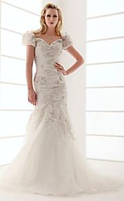 Lanting Bride® Trompette / Sirène Triangle Inversé / Rectangulaire / Non Spécifiques / Grandes Tailles / Sablier / Petites TaillesRobe de