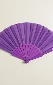 Purple Silk Hand Fans (set of 6)