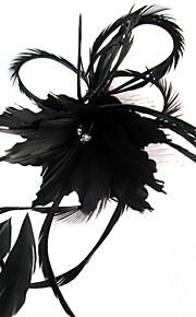 Femme Plume Casque-Mariage / Occasion spéciale / Décontracté / Extérieur Coiffure / Fleurs