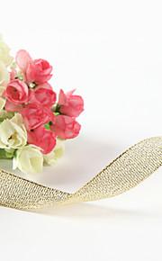 5/8-Inch Metallic Golden Ribbon
