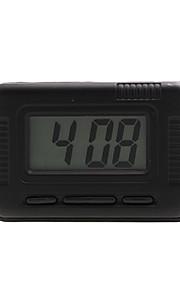 automotive elektronisk ur med blå baggrundsbelysning - sort - Z-2004A