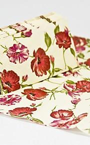 les feuilles et les serviettes de table en fleurs déjeuner (ensemble de 12 packs)