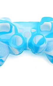 beskyttende dual-color silikon sak for PS3-kontrolleren (blå og hvit)