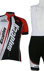 kooplus-miesten ruokalappu lyhythihainen pyöräily puvut (punainen ja valkoinen)
