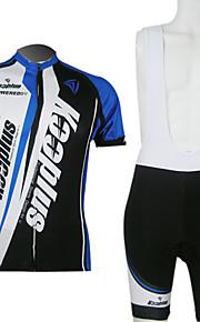 Вело костюм Kooplus, мужской (шорты+топ) в черных и синих цветах