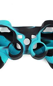 Beskyttende tofarget silikonetui til PS3-kontroller (bl? og svart)
