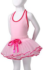 Dansetøj til børn Tutus / Kjoler Børne Ydeevne Bomuld / Spandex Sort / Blå / Lyserød / Rød Ballet / Opvisning Ærmeløs